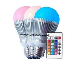 5W RGB LED 지구 전구, 원격 제어로 변화하는 색깔
