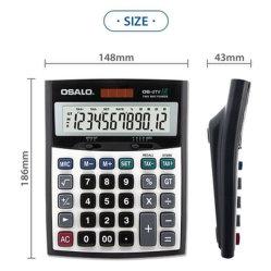 Grand affichage Dual Power Calculator Calculatrice de la taxe de vente en gros à 12 chiffres