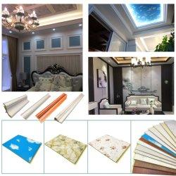 A decoração interior impermeável leve de ladrilhos e placas de gesso em 3D à prova de material de construção do forro de PVC do painel de parede
