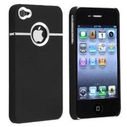 Крышка черного цвета Deluxe W/хромированная 4 для iPhone 4G 4s