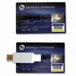 Ambos os cartões de crédito em Cores de segurança de disco USB