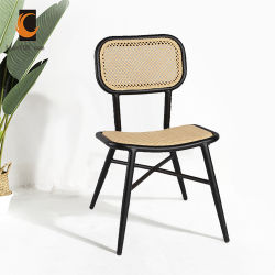 Открытый ресторан снаружи дома алюминиевых бамбуковой мебелью в стиле французского бистро стул Ican-20098