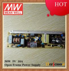 Meanwell LPS 5 VCC-50-5 50W 10A Alimentation électrique à châssis ouvert