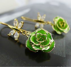 Fashion Jewellry-24k Or Rose Earring (EH067)