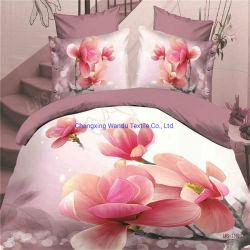 Impresos en 3D Sábana Fabric 80GSM con diseño floral romántico, exportado a EMIRATOS ÁRABES UNIDOS