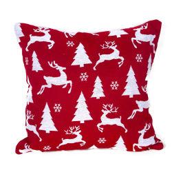 연약한 채워진 견면 벨벳 아기 장난감 크리스마스 눈송이 새끼 사슴 소파 방석