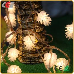 Оформление лампа LED Рождество светлой сосновой рождественские огни малых фонарики сосны конусов праздник фонари светодиодные фонари мигают вставить строки string горит