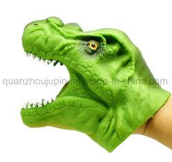 OEM dinosaurio de plástico de juguete títere de mano de cabeza de animal