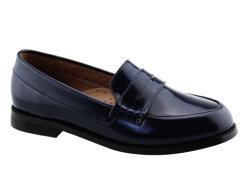 Unisexe Chaussures en cuir noir de l'école de jeunes enfants chaussures occasionnel