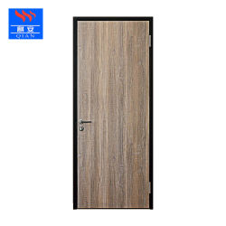 Hotel Porta de madeira da estrutura de aço laminado Fórmica impermeável porta de madeira com estrutura metálica