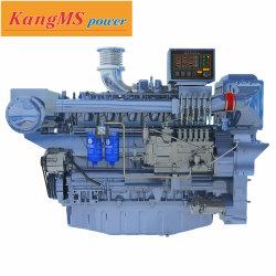 Weichai Motor Marítimo Diesel 400HP 1800rpm usam para iates de barcos de patrulha de Passageiros um ano de garantia do motor de barco com CCS