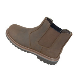 Crazy Horse кожаные Goodyear Welted защитные ботинки