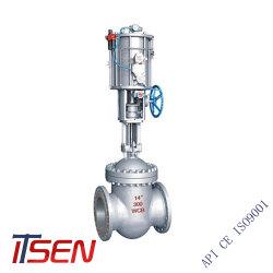 API ANSI 150lb 던지기 탄소 강철 Wcb 또는 좋은 벨브 액추에이터를 가진 압축 공기를 넣은 전기 압력 통제 벨브의 스테인리스 플랜지 수문 게이트 밸브