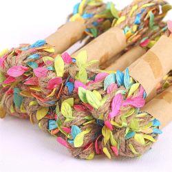 La simulazione lascia la corda impaccante della canapa del mazzo Hand-Woven del fiore