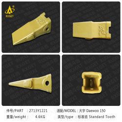 نقطة أسنان الجرافة القياسية من الفئة Doosan Daewoo 2713Y1221 Dh150، ومهايئ أسنان جرافة الحفار واللودر، وقطع غيار ماكينة التشييد