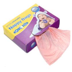 Ecoの友好的なオキソ生物分解性およびCompostable使い捨て可能な香料入りのプラスチック赤ん坊のおむつのおむつ袋