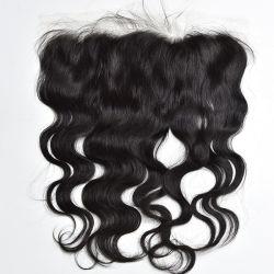 На заводе оптовой прозрачной HD кружева фронтальной 13X6 органа Виргинских кривой волосы с ребенком волос