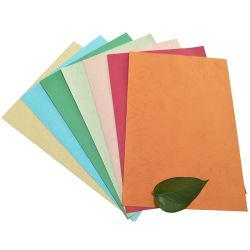 120-250g Document het van uitstekende kwaliteit van de Korrel van het Leer verfraaide het In reliëf gemaakte Document van de Verpakking van het Document