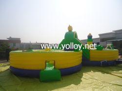 8 mots gonflable Obstacle Bouncy Diapositive Combo pour jeux de sport
