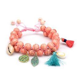 Shell de Verão da série mar pendão bracelete cordões Turquesa