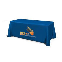 習慣は調節可能な経済のフルカラーのテーブル掛けの表示旗のSerged変換可能な表の投球を印刷した