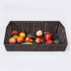 Tejido de mimbre cestas de frutas y vegetales mostrar y racks