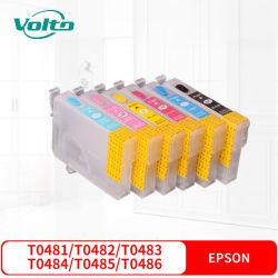 Совместимые Epson T0481 T0482 T0483 T0484 T0485 T0486 цветной картридж для Epson стилус фото R200 R220 R300 R300m R320 R340