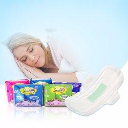 320mm maxi pour d'hygiène féminine Douce nuit biodégradable utiliser Ultra Mince anion tampon sanitaire