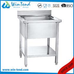 Commercial Undermount évier de cuisine en acier inoxydable avec étagère inférieure