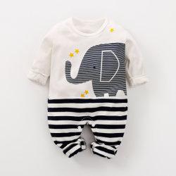 Новый детский мальчик девочка Rompers долго 100% хлопок пижама младенцев длинной втулки