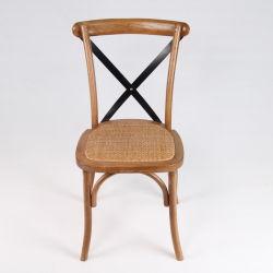 강한 나무 십자가의 식당 의자 등나무 의자