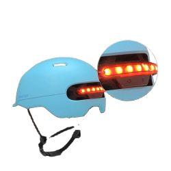 오토바이 액세서리 자전거 헬멧 여성용 스케이트 보드 스포츠금고 헬멧 프론트 리어 램프 라이트 전동 스쿠터 헬멧 LED