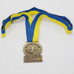 Ouro medalhas de Bronze em prata metálico com fitas de Bronze Prata Ouro Ashburton Chefs Academy Loja Medal of Honor com Fita Azul