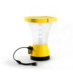 مصابيح شمسية 360 درجة SOS Camping 5 في 1 USB شحن الهاتف الكبلي