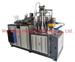 máquina de fabricación de vasos de papel desechables de alta velocidad con la maquinaria de aplicador de mango en línea