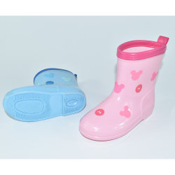 De milieuvriendelijke Laarzen/de Schoenen van de Regen van pvc Waterdichte voor Kinderen