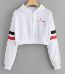 Mayorista fabricante 100% algodón impresión Swearshirt de damas de la cosecha de la moda Hoodie