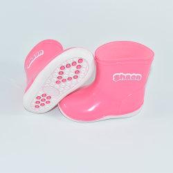Пвх Anti-Skid водонепроницаемый детей розового цвета половина дождя ботинки