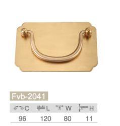 Accessoires de meubles de poignée de tiroir en laiton Tire pour les armoires de Pièces de matériel
