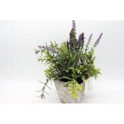Paquete Romántico Flores artificiales de plástico de lavanda de Provenza Boda Decorativo florero para decoracion de Navidad de grano de la planta falsos