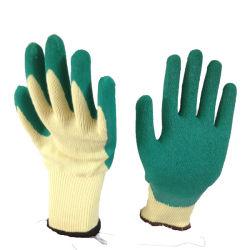 21 van het Rimpelen van het Latex van de Katoenen Handschoenen van het Garen