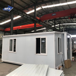 2021년에 새로 설계된 도매 휴대용 생활 모듈식 반장형 확장 가능 컨테이너 2개의 침실이 있는 외할머니 플랫 집