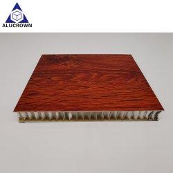 Prezzo di fabbrica grano di legno HPL decorazione lega di alluminio composito pelle Pannelli in alluminio Honeycomb Core Sandwich