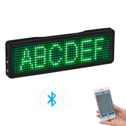 Visualizzazione ricaricabile della modifica di nome del distintivo LED di Bluetooth LED