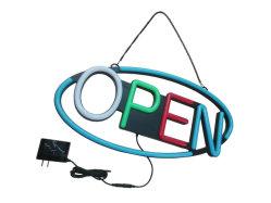 مؤشر الرسوم المتحركة علامة مفتوحة لعرض إعلانات متجر المطعم فتح شاشة LED للإعلان الخارجي