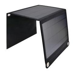 책임을%s 태양 전지판을 접히는 14W 5V/2.4A 태양 전지를 위한 최대 이중 USB 포트를 가진 건전지
