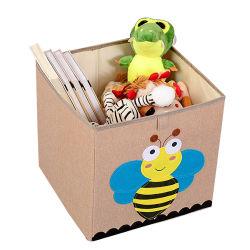 De kinderdagverblijf Geweven Bakken van de Opslag van het Stuk speelgoed van de Stof van Jonge geitjes Vierkante voor Jongens en Meisjes