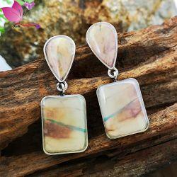 Vente en ligne de bijoux en alliage de zinc de charme Fake Gemstone Wholesale Fashion Earring