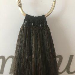 ヒトヴァージン・レミー・ヘアサロンでは、ブラジルのポニーテール・ヘア・エクステンションを使用しています 「ノーチップフェザー」の髪
