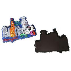 Magneti su ordinazione del frigorifero del silicone del PVC di stampa per i regali di promozione